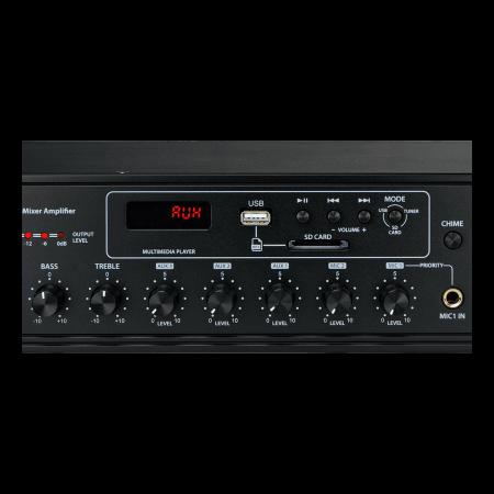 MX350 Mixer și Amplificator de linie cu 6 zone și telecomandă6