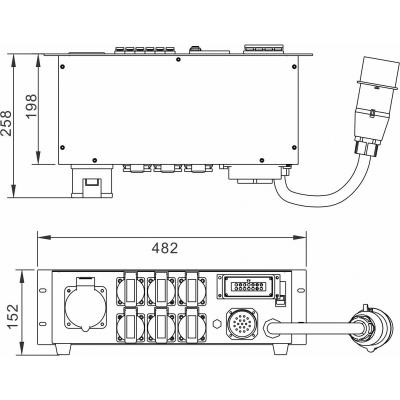 Distributie de curent Briteq PD-32SH/GERMAN3