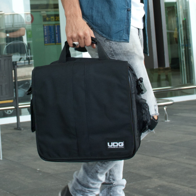 UDG Ultimate CourierBag DeLuxe Black/Orange Inside3