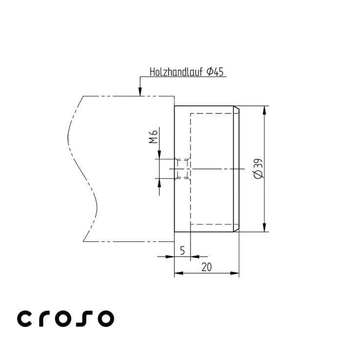 Element de imbinare fitting / mc lemn - pt lipire  Material AISI 316 2