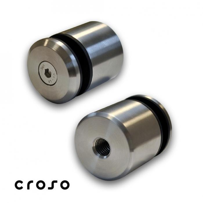 Conector punctual, pt tija M12 Material AISI 304 Finisaj Satinat Fixare pe [mm] Drept Diametru [mm] 42.4 Filet conectori M12 Sticla [mm] - Conectori in punte max 20 0