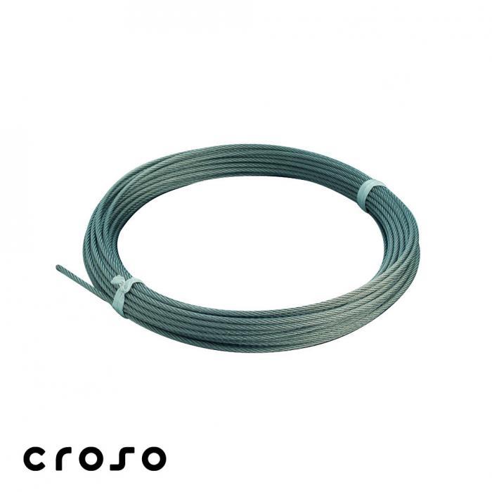Cablu inox 7x7, Ø 4 mm in rola de 100 m  Material AISI 304 m / rola 100 Diamentru cablu [mm] 4 0