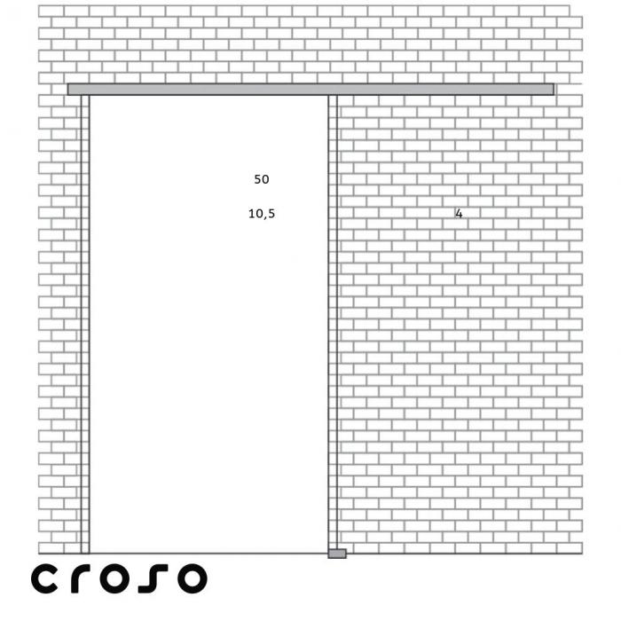 Portavant 60 - set complet, 1 foaie | fixare perete configuratie fixare perete | 1 canat | l = 1996 mm [5]