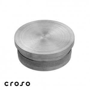 "Capac zimtat ""press in"", plat, Ø 42,4x2,0mm  Material AISI 304 Diametru ext teava [mm] 42.4 Finisaj Satinat Carne teava [mm] 20"