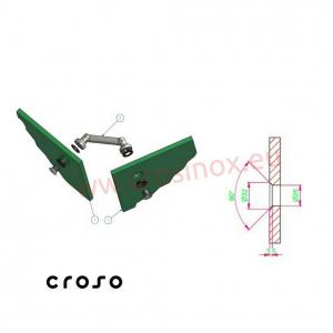 Conector sticla-sticla 103 mm  Material AISI 304 Finisaj Satinat Sticla [mm] - Conectori in punte max 152