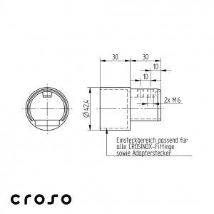 Adaptor pentru Ø 42,4mm Material AISI 316 Diametru ext teava [mm] 42.4 Diametru tub [mm] 42,4 X 2 Finisaj Satinat1