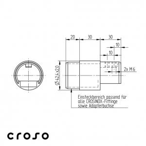 Conector pentru Ø 42,4mm  Material AISI 316 Diametru ext teava [mm] 42.4 Diametru tub [mm] 42,4 X 2 Finisaj Satinat1