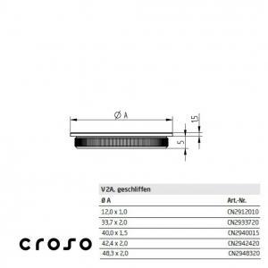 "Capac zimtat ""press in"", pentru Ø 12,0x1,0mm  Material AISI 304 Diametru ext teava [mm] 12 Finisaj Satinat Carne teava [mm] 11"