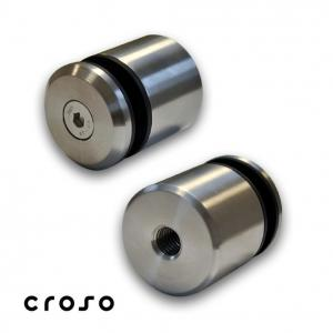 Conector punctual, pt tija M12 Material AISI 304 Finisaj Satinat Fixare pe [mm] Drept Diametru [mm] 42.4 Filet conectori M12 Sticla [mm] - Conectori in punte max 200