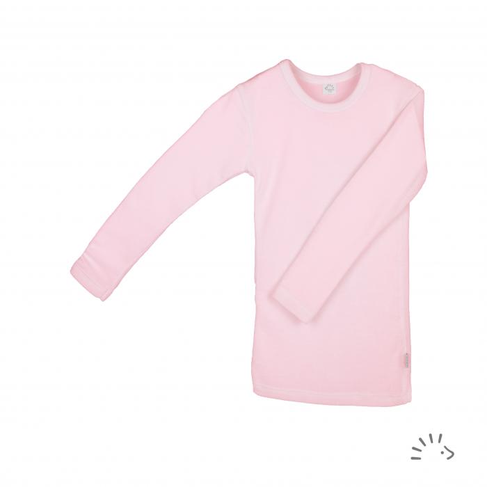 Bluza lana merinos si matase- Rose Pink [0]