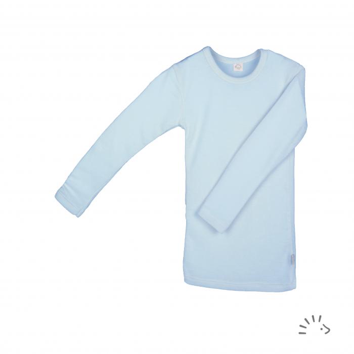 Bluza lana merinos si matase- Sky [0]