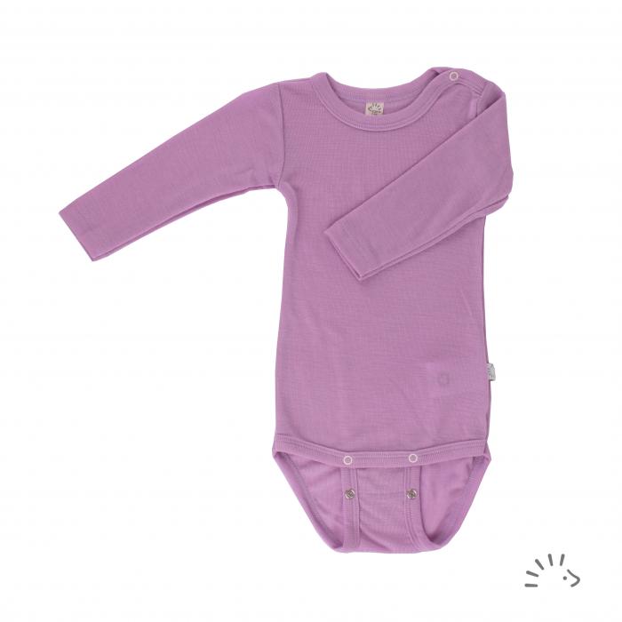 Body din lana merinos si matase- Lilac [0]