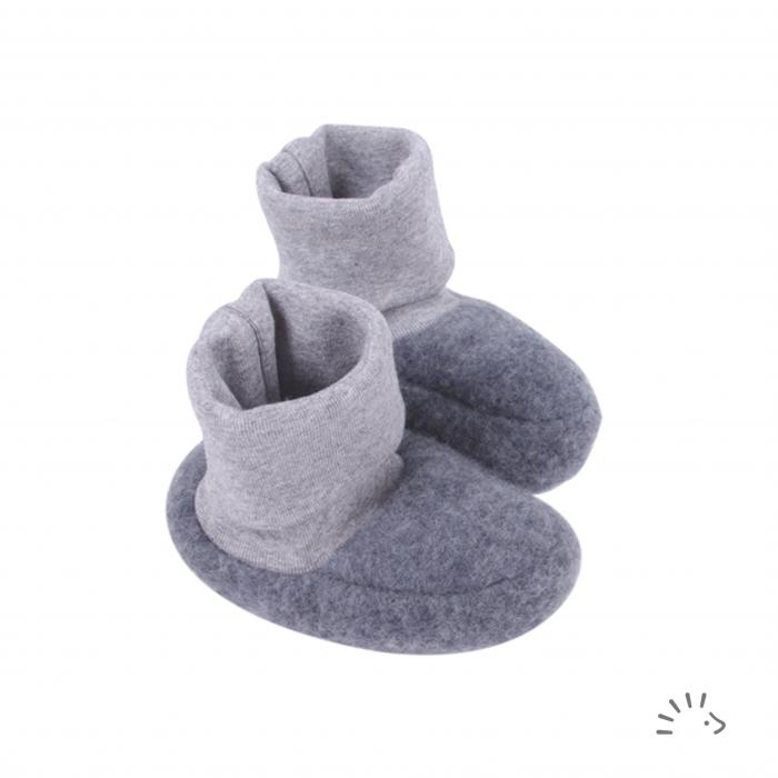 Botosei din lana merino organica fleece- Anthracite [0]