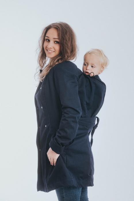 Geaca trench Babywearing Lenny Lamb- Bleumarin- marime XS [4]