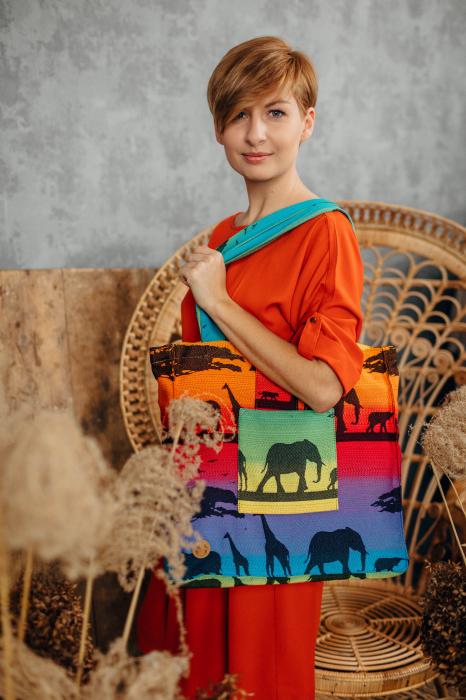 Geanta de umar Rainbow Safari Lenny Lamb [3]
