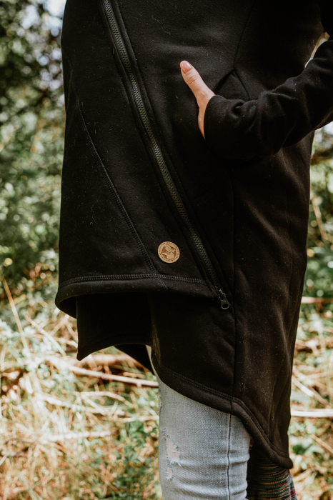 Hanorac hoodie Babywearing Black with Wild Soul Daedalus -marime L + CADOU Surpriza [7]