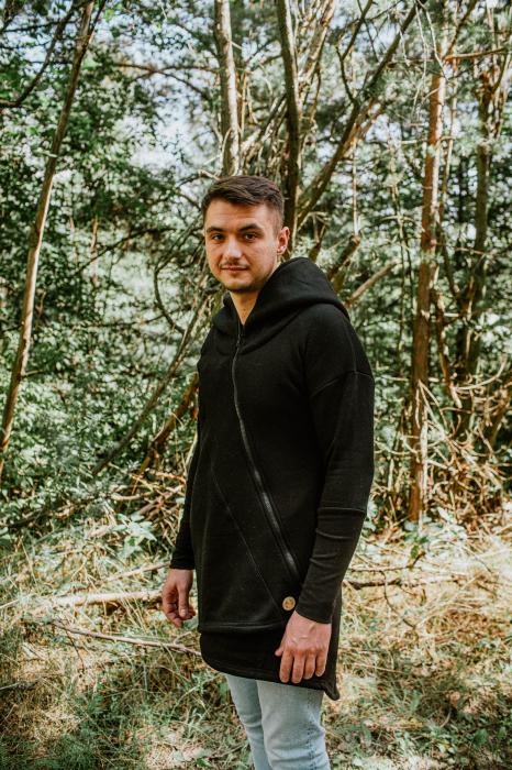 Hanorac hoodie Babywearing Black with Wild Soul Daedalus -marime L + CADOU Surpriza [11]