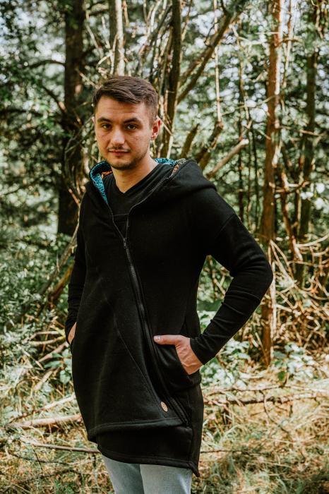 Hanorac hoodie Babywearing Black with Wild Soul Daedalus -marime L + CADOU Surpriza [10]
