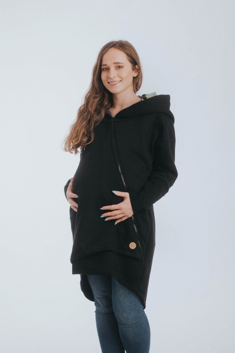 Hanorac hoodie Babywearing Black Simphony Rainbow Dark- marime M + CADOU Surpriza [4]