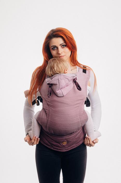 Marsupiu LennyGo Baby Size LITTLE HERRINGBONE OMBRE PINK [1]