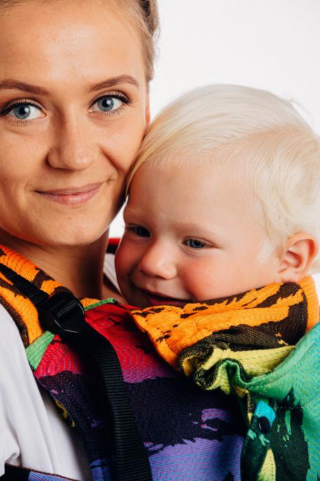 Marsupiu LennyGo Baby Size RAINBOW SAFARI 2.0 [5]