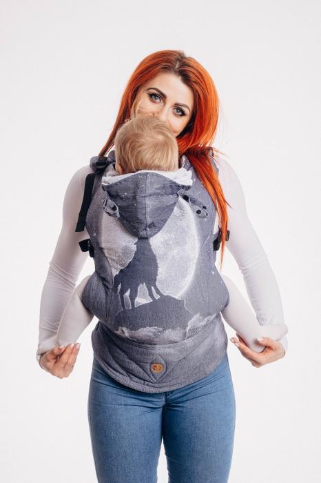 Marsupiu LennyGo Toddler Size- MOONLIGHT WOLF [0]