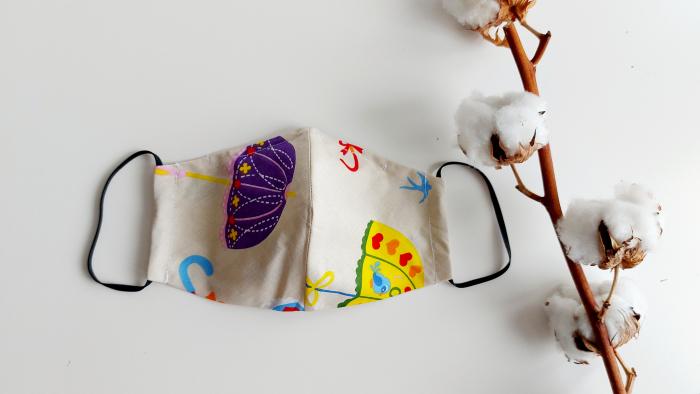 Masca din bumbac Umbrele Vesele- Femei [0]