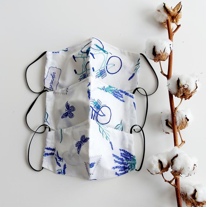 Masca din bumbac Lavanda- Femei [1]