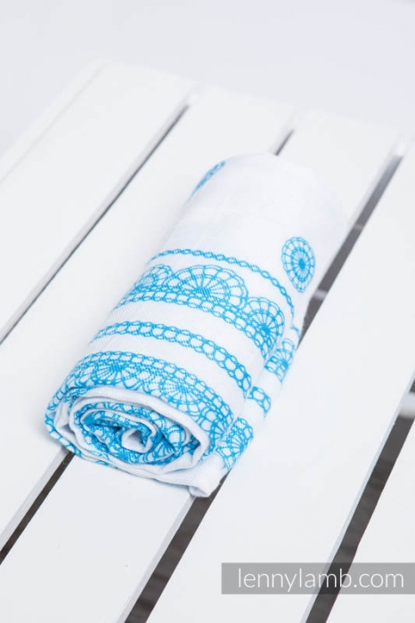 Pled mare- ICED LACE TURQUOISE & WHITE [0]