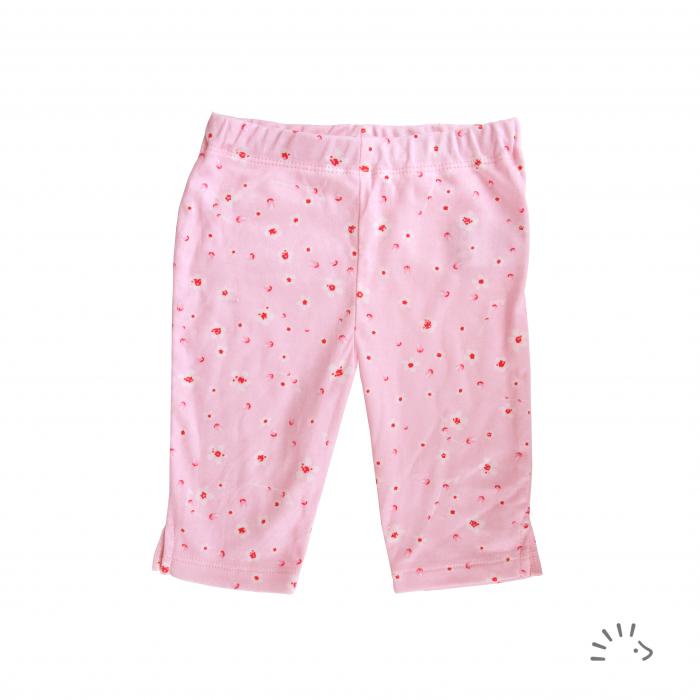 Pantaloni Capri din bumbac organic- Iobio Popolini- Cherry Blossoms [0]
