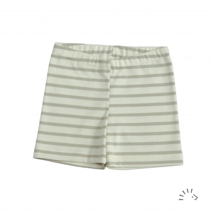 Pantaloni Capri din bumbac organic- Sand Ecru [0]