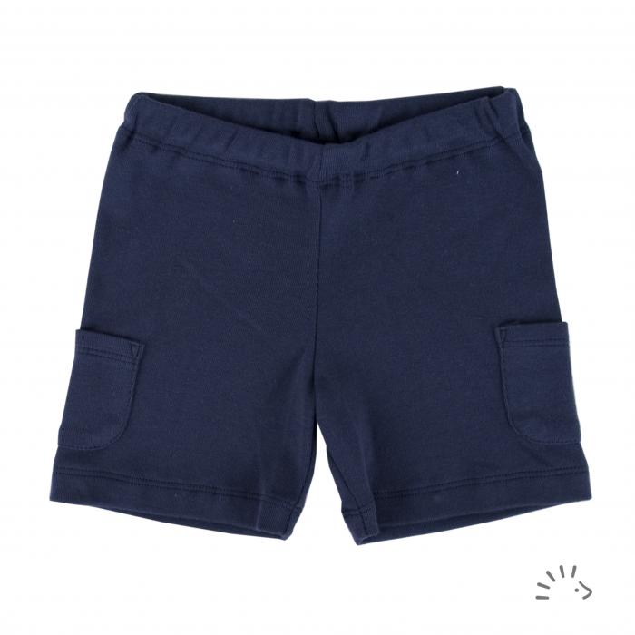 Pantaloni Capri din bumbac organic- Dark Blue [0]