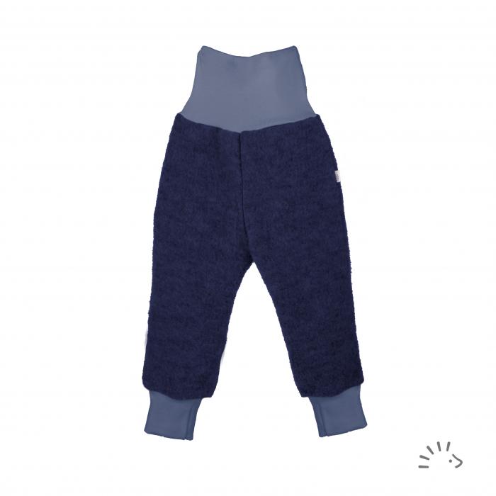 Pantaloni din lana merinos organica boiled wool- Dark blue [0]