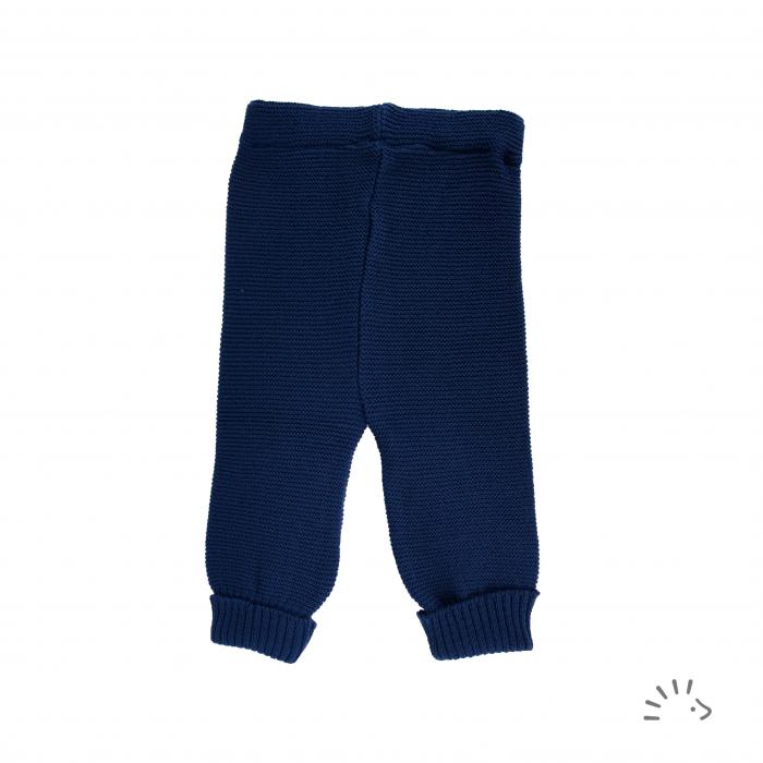 Pantaloni lana merinos organica impletita- Dark blue [0]