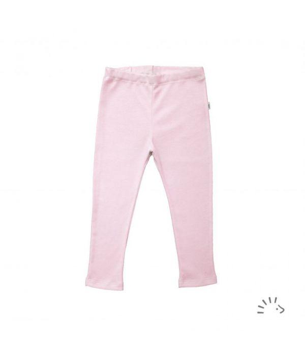 Pantaloni subtiri din lana merinos si matase- Rose Pink [0]