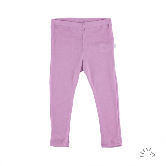 Pantaloni subtiri din lana merinos si matase- Lilac [0]