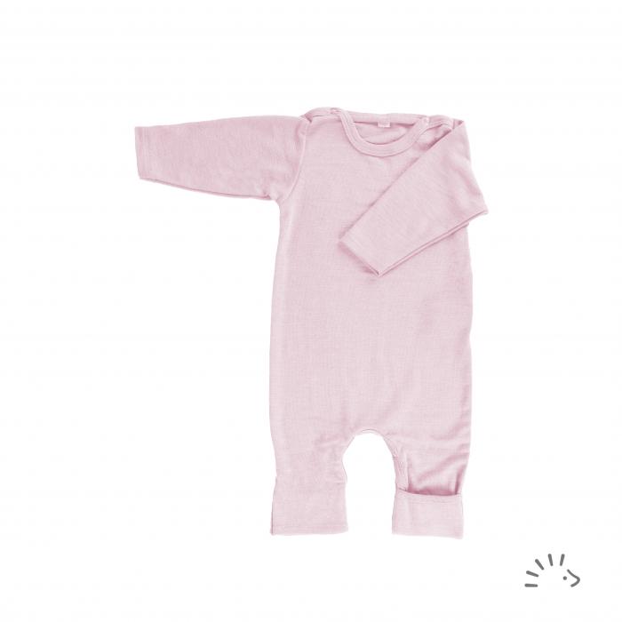 Salopeta overall din lana merinos si matase, mutifunctionala - Rose Pink [0]