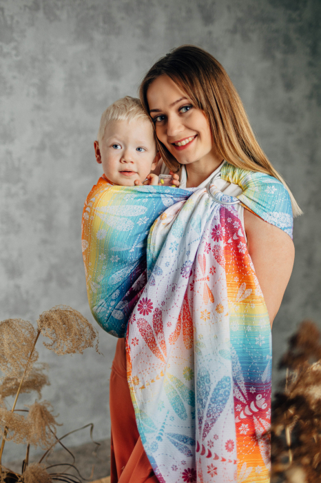 Sling cu inele LenyLamb DRAGONFLY RAINBOW- Grade B [0]