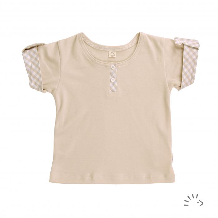 Tricou din bumbac organic- Iobio Popolini - Sand [0]