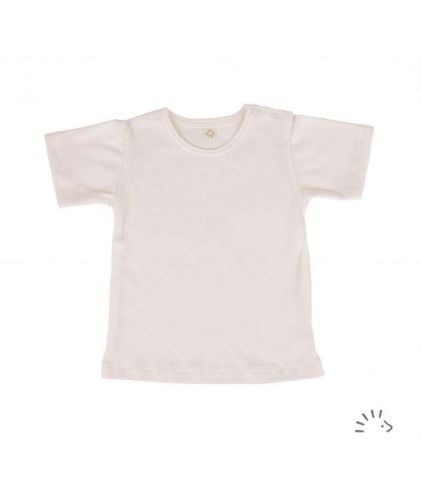 Tricou fin din bumbac organic basic- Iobio Popolini - Ecru [0]