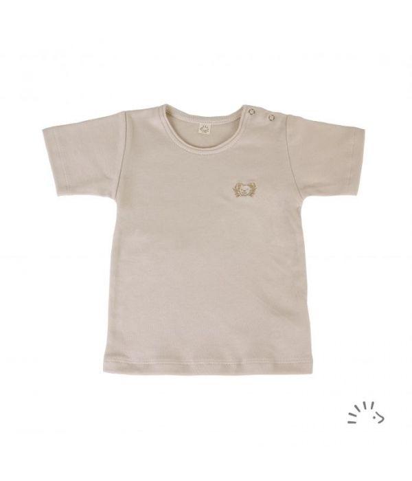 Tricou fin din bumbac organic basic- Iobio Popolini - Sand [0]