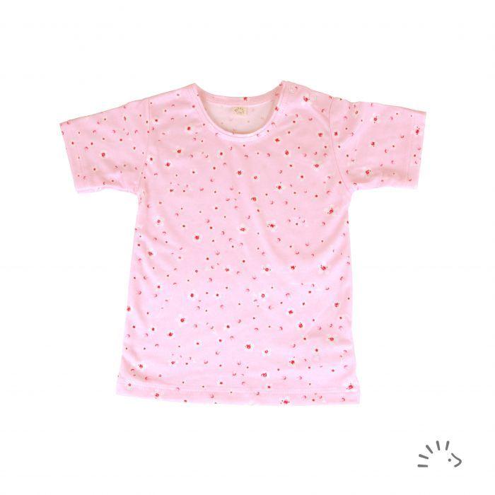 Tricou fin din bumbac organic basic- Iobio Popolini - Cherry Blossoms [0]
