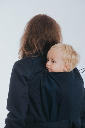 Geaca trench Babywearing Lenny Lamb- Bleumarin- marime XS [5]
