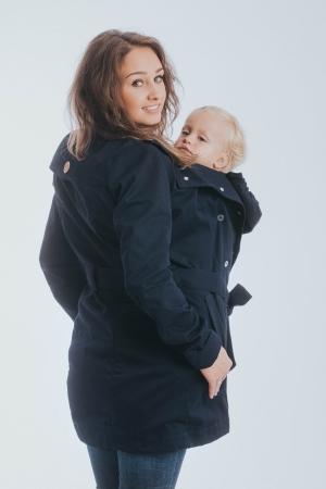 Geaca trench Babywearing Lenny Lamb- Bleumarin- marime XS [3]