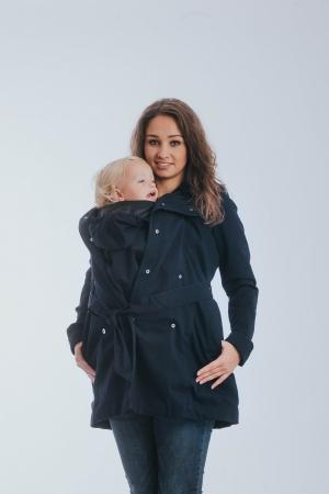 Geaca trench Babywearing Lenny Lamb- Bleumarin- marime XS [0]