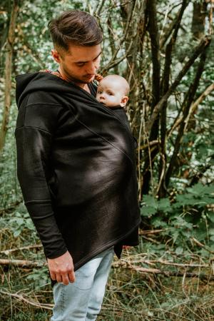 Hanorac hoodie Babywearing Black with Wild Soul Daedalus -marime L + CADOU Surpriza [9]