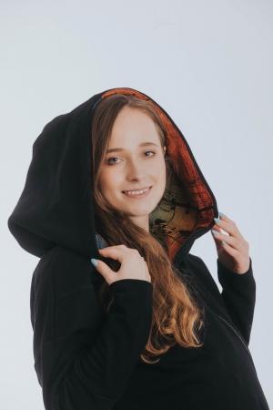 Hanorac hoodie Babywearing Black Simphony Rainbow Dark- marime M + CADOU Surpriza [5]