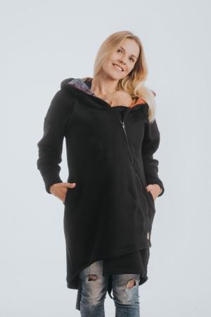 Hanorac hoodie Babywearing Black Simphony Rainbow Dark- marime M + CADOU Surpriza [1]