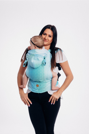 Marsupiu LennyGo Baby Size BIG LOVE ICE MINT [1]