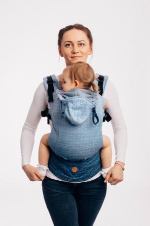 Marsupiu LennyGo Baby Size BIG LOVE - OMBRE LIGHT BLUE [0]